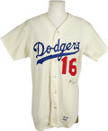 Autographs:Jerseys, Ron Perranoski Signed Jersey. This handsome white home Los Angeles Dodgers jersey has been signed by long-time pitcher for ...