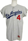 Autographs:Jerseys, Duke Snider Signed Jersey. Classic road flannel from the LosAngeles Dodgers' 1967 season has undergone a number change to ...