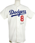 Autographs:Jerseys, Reggie Smith Signed Jersey. Beautiful Goodman and Sons Dodgersjersey sports a neat application of Reggie Smith's signature...