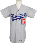 Baseball Collectibles:Uniforms, 1974 Tom Paciorek Game Worn Jersey. Beautiful road gray gamer was worn by Tom Paciorek during the 1974 season. Shows much ...
