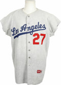 Baseball Collectibles:Uniforms, 1965 Willie Crawford Game Used Jersey. Worn by outfielder Willie Crawford during his time with the Los Angeles Dodgers in t...