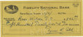 Autographs:Checks, Ty Cobb Signed Check. Ty Cobb's legacy can't be summed up in a fewwords. His accolades overshadow even many of today's pla...