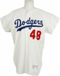 Autographs:Jerseys, 1970 Jeff Torborg Game Worn Jersey. Catcher Jeff Torborg was partof some historical baseball games as he served as the bat...