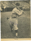 Autographs:Photos, Max Carey Signed Black and White Photograph. Known as a skilledfielder and an excellent base stealer, Carey played the bul...