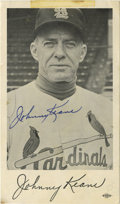 Autographs:Photos, Johnny Keane Signed 5x7 Black and White Photograph. Big leaguemanager, Johnny Keane led the St. Louis Cardinals to the Wor...