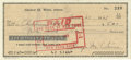 Autographs:Checks, George Weiss Signed Check. One of the most successful baseball executives, he rose to the prominent position of President o...