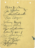 Autographs:Others, Circa 1940 New York Yankees Team Signed Album Page. Twelve membersfrom the circa 1940 New York Yankees have applied this g...
