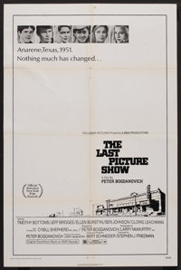 "The Last Picture Show (Columbia, 1971). One Sheet (27"" X 41""). Drama"