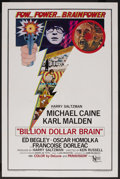 "Movie Posters:Thriller, Billion Dollar Brain (United Artists, 1967). One Sheet (27"" X 41""). Thriller. ..."