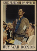 "Movie Posters:War, Norman Rockwell Propaganda Poster (United States Government,1940s). Poster (20"" X 28""). War. ..."