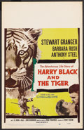 """Movie Posters:Action, Harry Black and the Tiger (20th Century Fox, 1958). Window Card(14"""" X 22""""). Action. ..."""