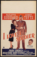 "Movie Posters:Drama, I Love a Soldier (Paramount, 1944). Window Card (14"" X 22""). Drama. ..."