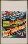 """Movie Posters:War, Ships with Wings (United Artists, 1942). Window Card (14"""" X 22"""").War. ..."""