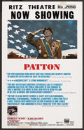 "Movie Posters:Academy Award Winner, Patton (20th Century Fox, 1970). Window Card (14"" X 22""). Academy Award Winner. ..."