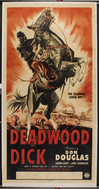 "Deadwood Dick (Columbia, 1940). Three Sheet (41"" X 81""). Western Serial"