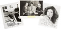 "Movie/TV Memorabilia:Autographs and Signed Items, Photos with Autographs by Wally Schirra, Katherine Ross, andCarroll O' Connor. Two b&w 8"" x 10"" photographs autographedand... (Total: 1 Item)"
