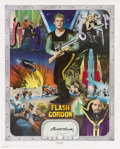"""Movie/TV Memorabilia:Autographs and Signed Items, Buster Crabbe Autographed """"Flash Gordon"""" Poster (NostalgiaMerchant, 1977). An Olympic gold medalist turned actor, BusterCr... (Total: 1 Item)"""