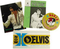 Music Memorabilia:Memorabilia, Elvis Presley Las Vegas Hilton Souvenir Group of 4 (1973). Here's a beautiful assortment from Elvis' 1973 engagements at the... (Total: 1 Item)