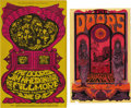 Music Memorabilia:Memorabilia, Doors Postcard and Handbill Group (1967-68). Includes Bill GrahamPresents No. 67 Postcard, June 9-10, 1967, measuring 4 5/8...(Total: 2 Items Item)