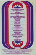 Music Memorabilia:Posters, Eric Burdon & the Animals Fillmore East Handbill (Bill Graham,1968). Also featuring the Beach Boys, Moody Blues, Steppenwol...(Total: 1 Item)