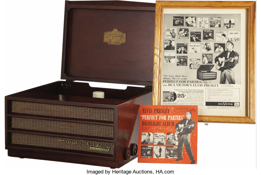 Elvis Presley Model 7HF-45 Record Player and More (1956)  RCA | Lot