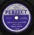 "Music Memorabilia:Recordings, Robert Johnson ""Terraplane Blues""/ ""Kind Hearted Woman Blues"" 78(Perfect 7-03-56, 1937). Rare alt-label issue of Johnson's ...(Total: 1 Item)"