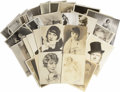 Movie/TV Memorabilia:Photos, Vintage Photo Lot. A lot of 38 photos from 1912 to the earlymid-1940s, featuring widely-diverse Hollywood faces and forms, ...(Total: 1 Item)