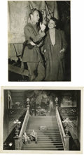"""Movie/TV Memorabilia:Photos, Two Original Set Stills from """"Gone With the Wind."""" A set of twobehind-the-scenes b&w set stills from Gone with the Wind....(Total: 1 Item)"""