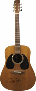 Movie/TV Memorabilia:Autographs and Signed Items, Peter Fonda's Autographed Custom 1977 Don Musser Acoustic Guitar. This handsome acoustic guitar was custom built by master l... (Total: 1 Pieces Item)