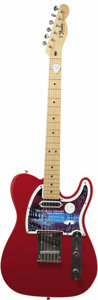 Music Memorabilia:Autographs and Signed Items, John Fogerty Autograph Guitar. A red Fender Telecoaster, serialnumber MN516566, with custom Blue Moon Tour faceplate and mi...(Total: 1 Item)