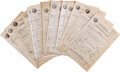 Movie/TV Memorabilia:Autographs and Signed Items, Celebrity Signed California Driver's License Applications Circa1940s. This very cool -- and slightly unusual -- lot feature...(Total: 1 Item)