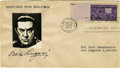 Movie/TV Memorabilia:Autographs and Signed Items, Bela Lugosi Signed First Day Cover. An envelope postmarked October31, 1944, autographed by Lugosi in black ink below an aff...(Total: 1 Item)