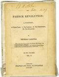 Movie/TV Memorabilia:Autographs and Signed Items, Bram Stoker Signed Booklet. A vintage copy of the pamphlet The French Revolution: A History in Three Parts, signed acros... (Total: 1 Item)