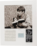 Music Memorabilia:Photos, Ian Wright Photographs of Eric Burdon & The Animals. Alarge-format photograph of Ian Burdon in a pensive moment, taken in1... (Total: 1 Item)