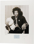 Music Memorabilia:Photos, Ian Wright Unpublished Photograph of Jimi Hendrix with Autograph. Alarge-format, unpublished photograph of Jimi Hendrix pri... (Total:1 Item)