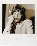 Music Memorabilia:Photos, Ian Wright Photograph of Mick Jagger, 1965, with Autograph. Alarge-format photograph of Mick Jagger prior to the Stones' 19...(Total: 1 Item)