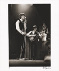 "Music Memorabilia:Photos, Mick Jagger and Keith Richards Photo by Philip Townsend. A b&w20"" x 24"" photo of Mick Jagger and Keith Richards onstage cir...(Total: 1 Item)"
