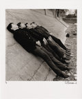 "Music Memorabilia:Photos, Rolling Stones Band by Philip Townsend. A great b&w 20"" x 24""photo of the Stones reclining against a sea wall, by noted roc...(Total: 1 Item)"