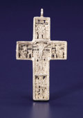 Silver Smalls:Other , An Orthodox Silver Pectoral Cross. Unknown maker, possibly Russian. Seventeenth Century. Silver. Unmarked. 3.75 inches hig... (Total: 1 Item)