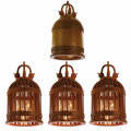 Miscellaneous, Four Monumental Teak Bells. Unknown maker, Asian. 20th century. Teak. Unmarked. 80 inches high x 39 inches wide. Three bel... (Total: 4 Items)
