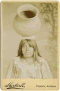 Photography:Cabinet Photos, CABINET OF PAPAGO WOMAN BY HARTWELL. Francis A. Hartwell was animportant photographer in the Phoenix area from 1898-1908. D...(Total: 1 Item)
