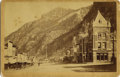 Photography:Cabinet Photos, OURAY, COLORADO STREET SCENE BY W.H. JACKSON - BOUDOIR CARD - ca.1885-95. This is a fine street scene of Ouray, Colorado an...(Total: 1 Item)