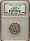 1762-BB SOU M French Colonies Sou Marque -- Improperly Cleaned -- NCS. XF Details. NGC Census: (1/8). PCGS Population (...