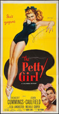 "Movie Posters:Comedy, The Petty Girl (Columbia, R-1955). Three Sheet (41"" X 79"").Comedy.. ..."