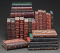 Other, LEATHER BINDINGS: A COLLECTION OF TWENTY-FOUR BOOKS. Late 18-early 20th century. Various titles, publishers, and editions. B... (Total: 24 Items)