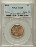 Liberty Nickels: , 1911 5C MS65 PCGS. PCGS Population (214/37). NGC Census: (157/27).Mintage: 39,559,372. Numismedia Wsl. Price for problem f...