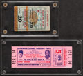 Boxing Collectibles:Memorabilia, 1953 and 1955 Rocky Marciano Tickets Lot of 2 (One is from Marciano's Final Fight)....