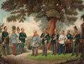 Fine Art - Painting, European:Antique  (Pre 1900), AUSTRIAN SCHOOL (19th Century). Portrait of Field MarshallJoseph Radetzky von Radetz and his Commanders during the First...