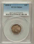 Barber Dimes: , 1898-S 10C MS64 PCGS. PCGS Population (24/11). NGC Census: (5/9).Mintage: 1,702,507. Numismedia Wsl. Price for problem fre...