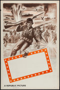 "Movie Posters:War, Republic Studios WWII Stock Poster (Republic, 1940s). One Sheet(27"" X 41""). Flat Folded. War.. ..."